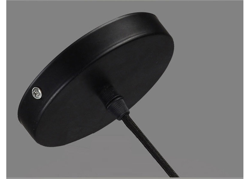 Hanglamp Modern Zwart Rond Metaal - Scaldare Quara