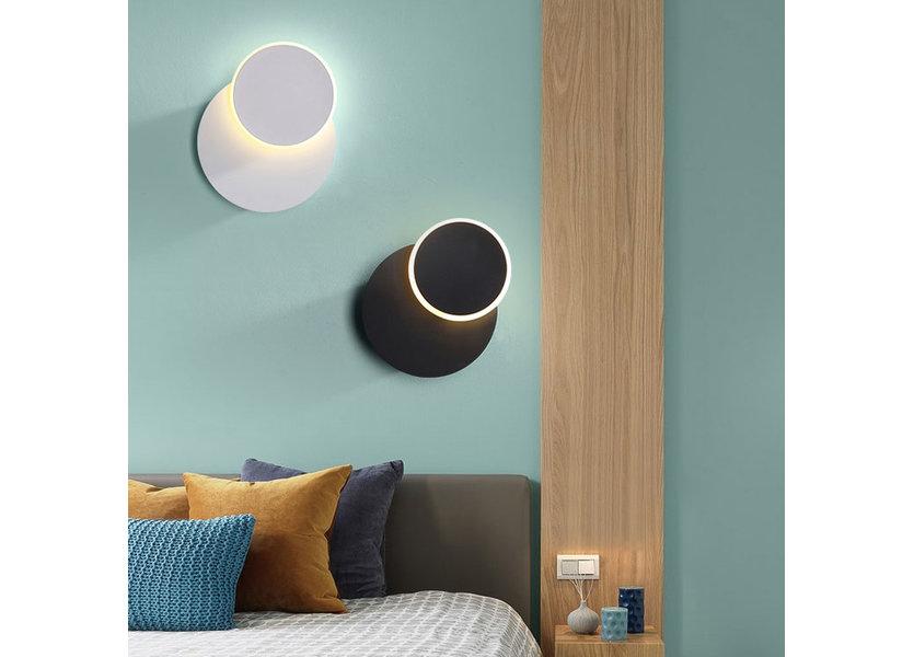Wandlamp LED Design Bruin Rond Aluminium - Scaldare Dolo