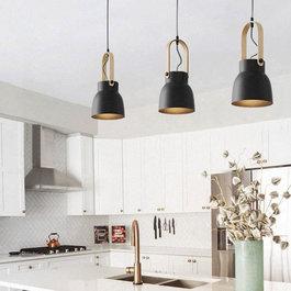 Valott Hanglamp Modern Zwart Aluminium met Hout - Valott Maija