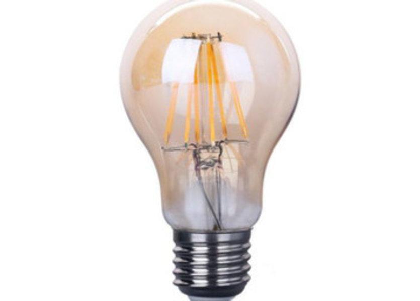 Crius LED Filament A60 E27 8W 827 Amber Dimbaar