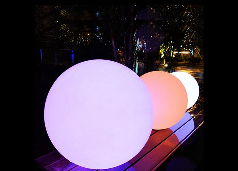 Oplaadbare Bol 25 cm LED RGB incl. Afstandsbediening - Funnylights Venonat Tuinlamp