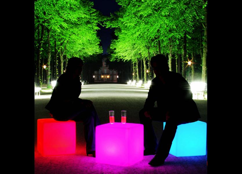 Oplaadbare Kubus LED RGB incl. Afstandsbediening - Funnylights Grimer Tuinlamp