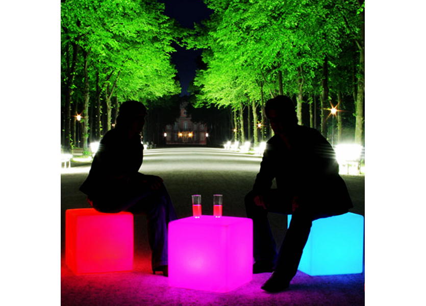 Staande lamp LED in Kubus om op te zitten - Funnylights Grimer