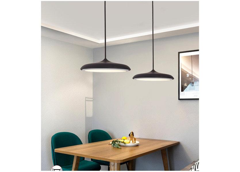 Hanglamp LED Design Zwart Rond 40 cm - Scaldare Albi