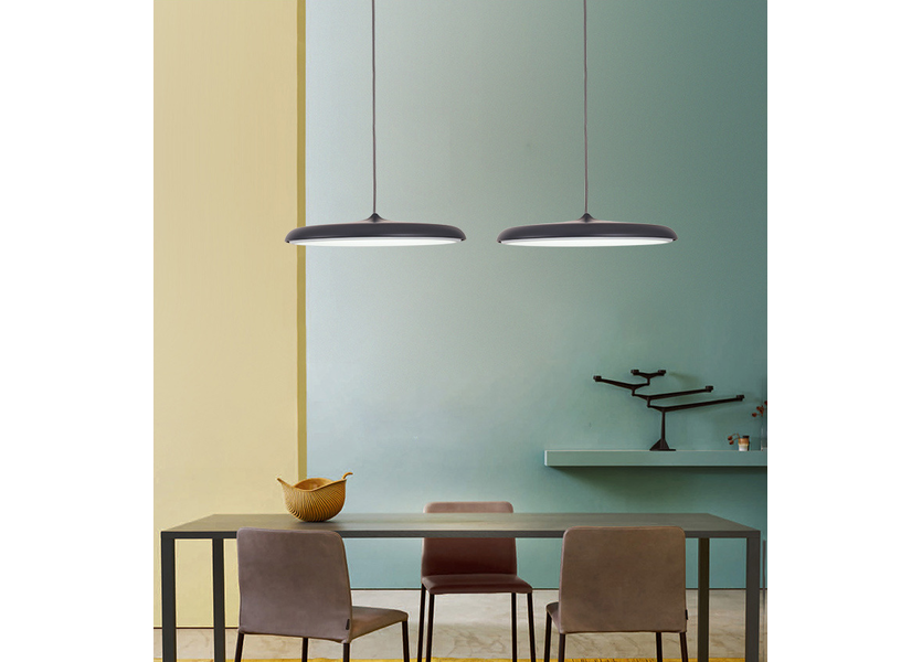 Hanglamp LED Design Zwart Rond 30 cm - Scaldare Albi