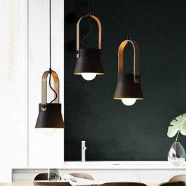 Valott Hanglamp Modern Zwart Aluminium met Hout - Valott Kirsi