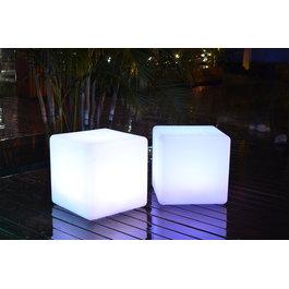 Funnylights LED RGB Kubus Oplaadbaar + Afstandsbediening - Funnylights Grimer