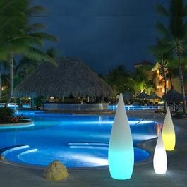 Funnylights Oplaadbare Staande Lamp LED RGB Waterdruppel 80 cm incl.  Afstandsbediening - Funnylights Muk Tuinlamp