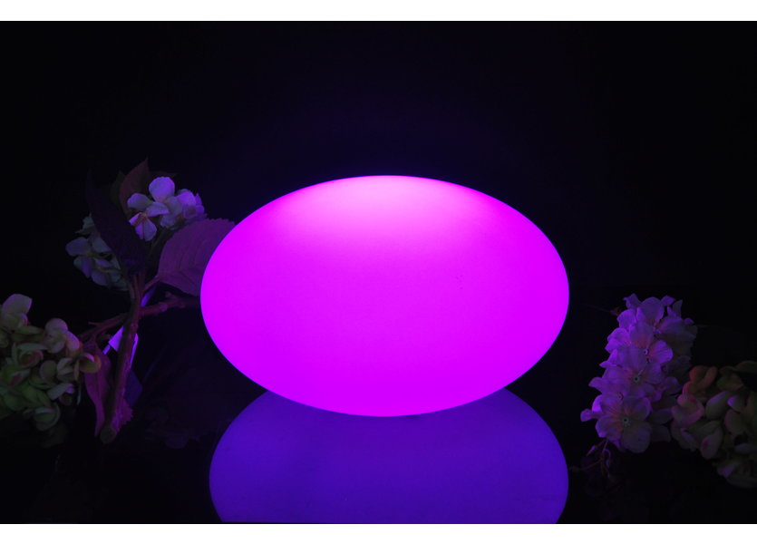 Oplaadbare Steen 32 cm LED RGB incl.  Afstandsbediening - Funnylights Geodude Tuinlamp