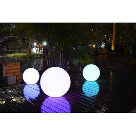 Funnylights Oplaadbare Bol 25 cm LED RGB incl. Afstandsbediening - Funnylights Venonat Tuinlamp