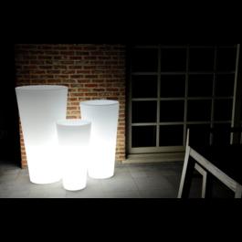 Funnylights LED RGB Bloempot Rond 60 cm Oplaadbaar + Afstandsbediening - Funnylights Gengar