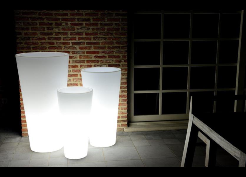 Oplaadbare Bloempot Rond 60 cm LED RGB incl. Afstandsbediening - Funnylights Gengar Tuinlamp