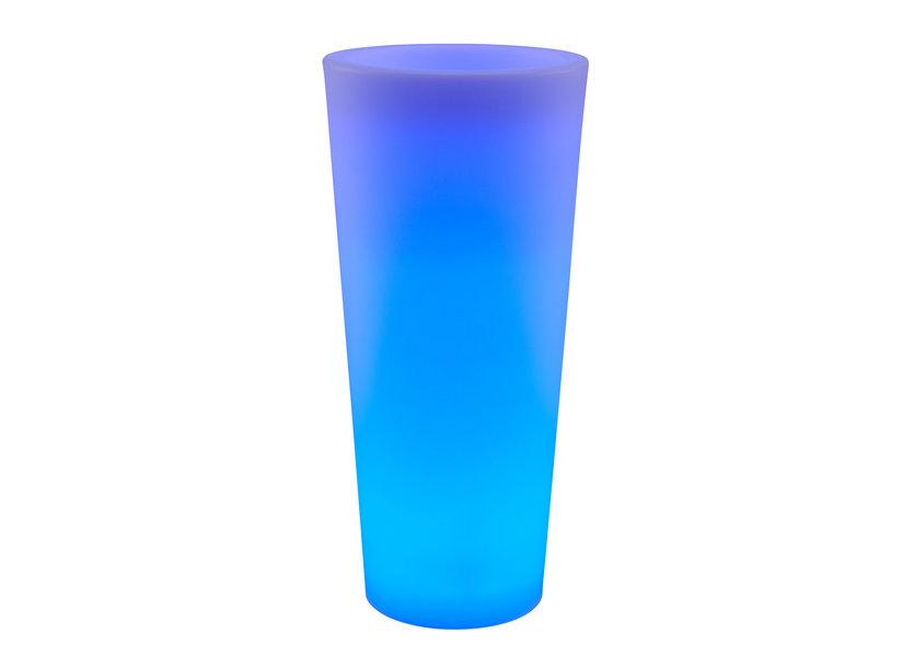 LED RGB Bloempot Rond 90 cm Oplaadbaar + Afstandsbediening - Funnylights Onix
