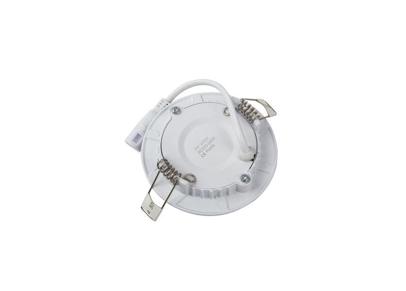 Ronde LED Inbouwspot Ø85 mm - 3 Watt - 3000K - Crius