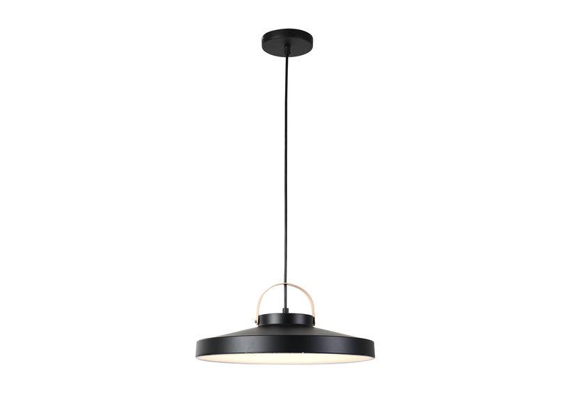 Hanglamp LED Modern Zwart Rond Middel 31 cm - Scaldare Grado