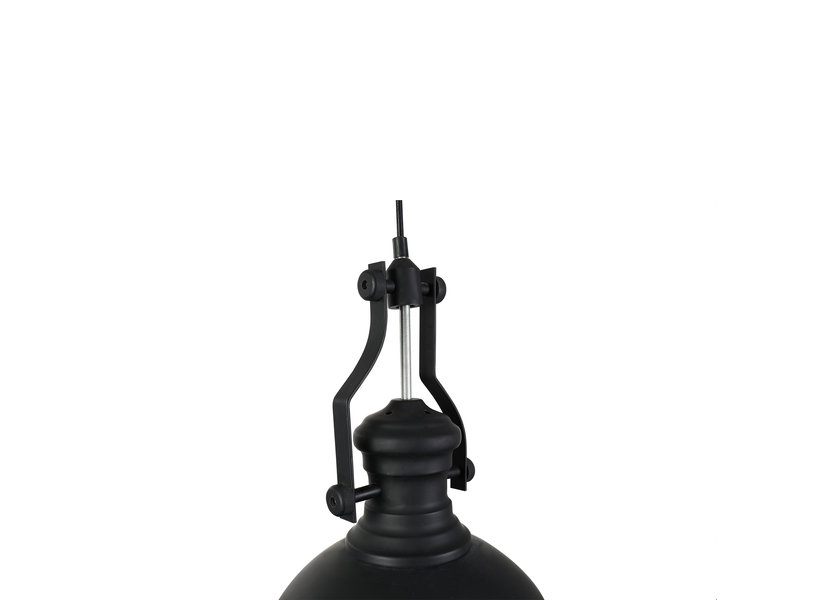 Hanglamp Industrieel Zwart Rond Metaal - Valott Vesa