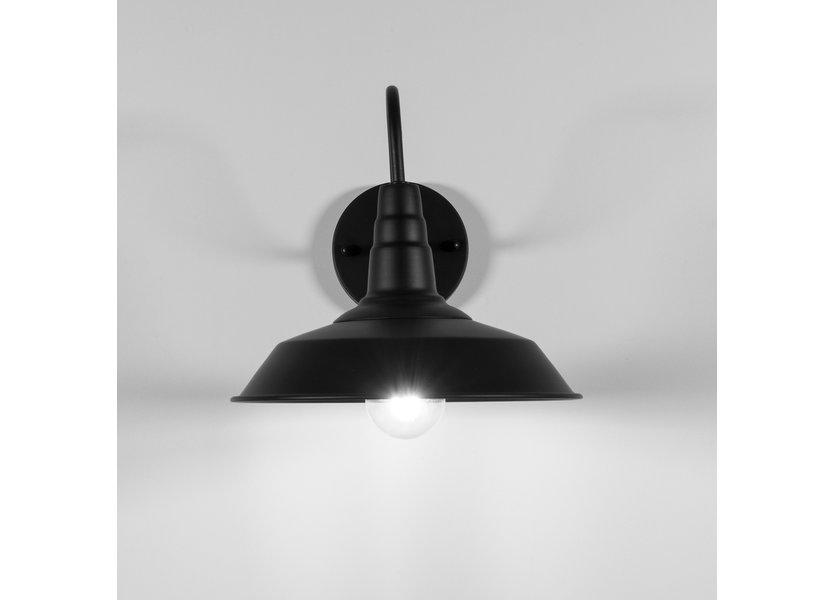 Landelijke Zwarte Wandlamp – Valott Johtaa