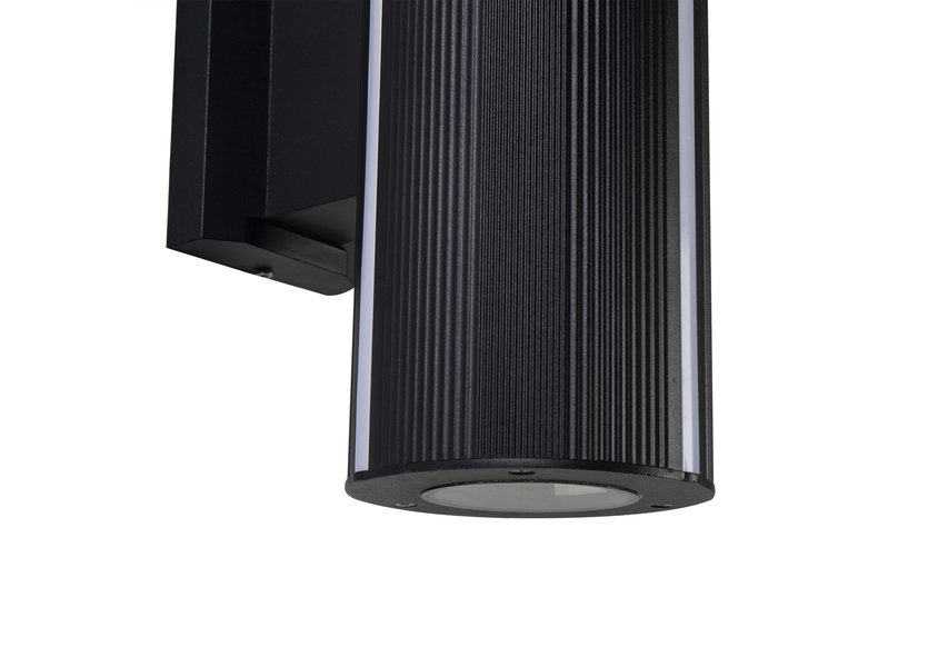 Moderne Buitenwandlamp up down Zwart IP65 incl. LED Wit Licht - Gardenleds Solano