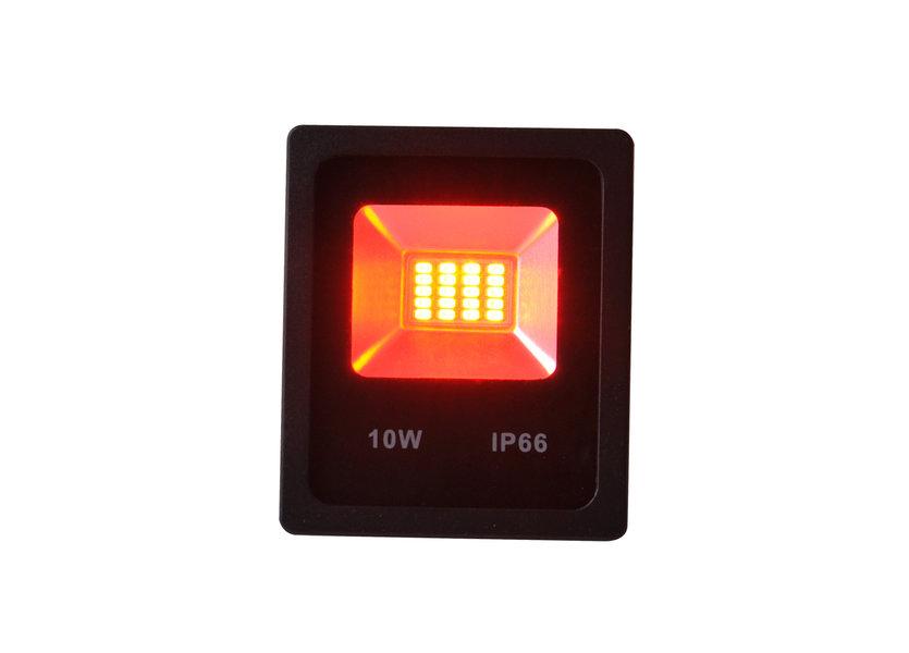 LED Bouwlamp 10 Watt Rood Licht IP65 - Crius