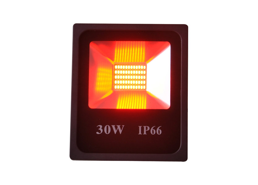 LED Bouwlamp 30 Watt Rood Licht IP65 - Crius