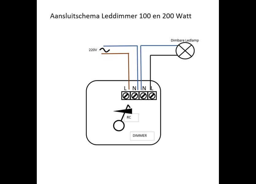 LED dimmer 100 Watt incl. afstandsbediening - Crius