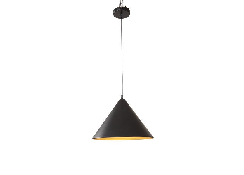 Hanglamp Zwart met Gouden Binnenkant - Scaldare Orvinio
