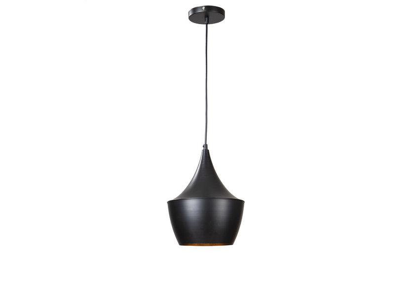 Hanglamp Zwart Alu met Gouden Binnenkant - Scaldare Maccagno