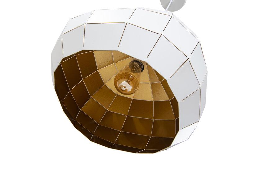 Hanglamp Modern Wit Rond Metaal - Valott Miina