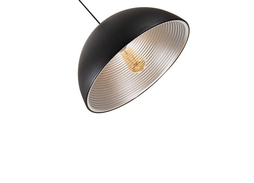 Hanglamp Zwart met Zilveren Binnenkant - Scaldare Lucano