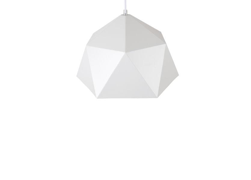 Hanglamp Wit Metaal met Gouden Binnenkant - Scaldare Rapallo