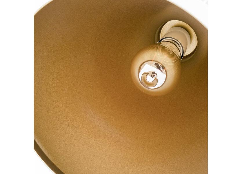 Hanglamp Witt Alu met Gouden Binnenkant - Valott Timo