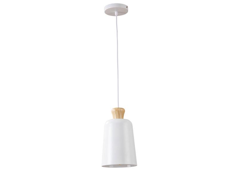 Hanglamp Wit Aluminium met hout - Valott Eliisa