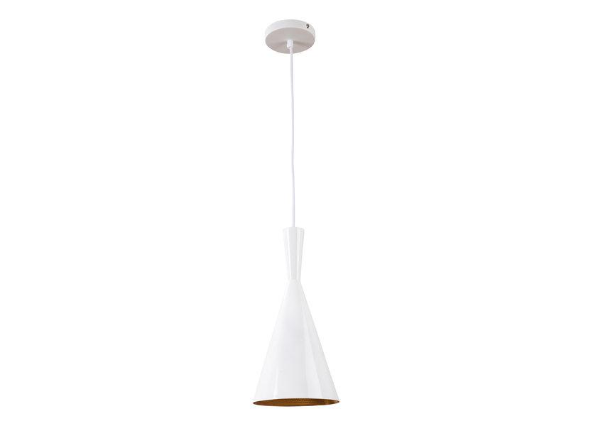 Hanglamp Wit Rond Alu met Gouden Binnenkant - Scaldare Nago