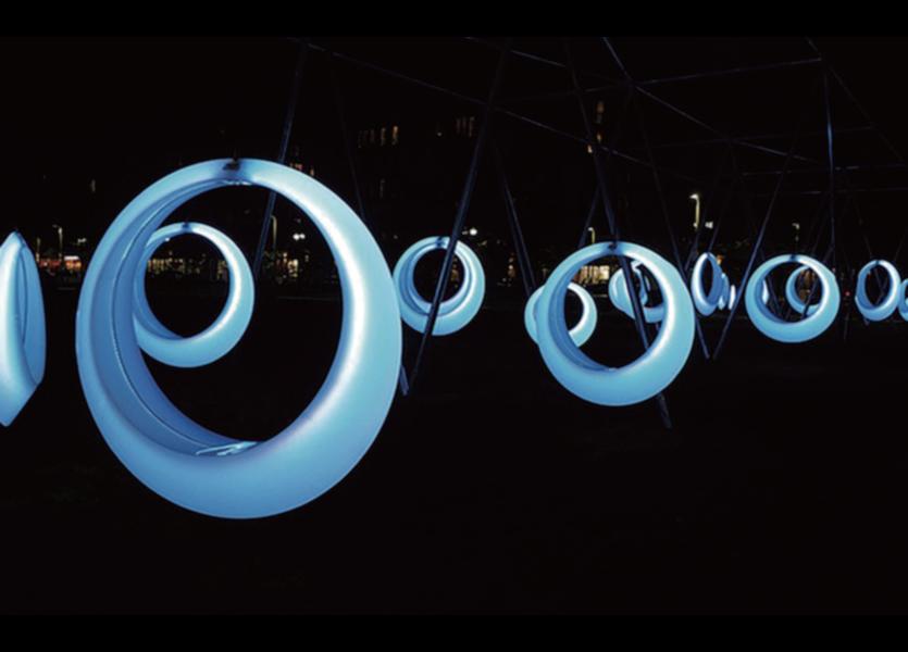 LED RGB Schommel Oplaadbaar + Afstandsbediening -Funnylights Magmar
