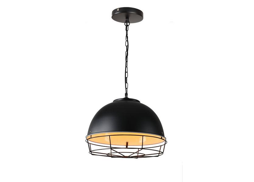 Hanglamp Industrieel Zwart Rond Metaal - Valott Taavi