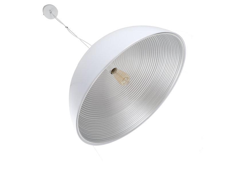 Hanglamp Wit met Zilveren Binnenkant 60 cm - Scaldare Lucano