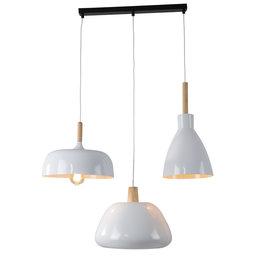 Valott Hanglamp Modern Wit Rond Aluminium en Hout- Valott Salomon
