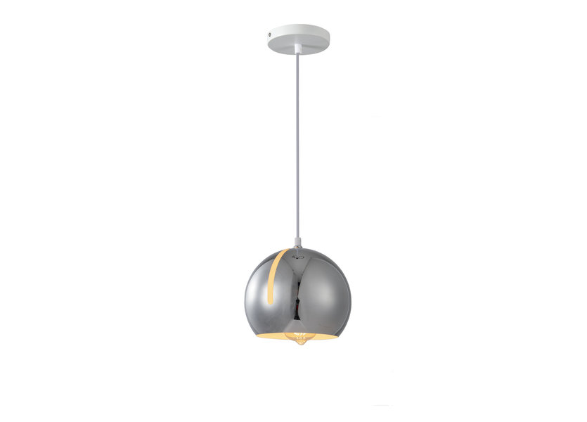Hanglamp Modern Chrome Rond Metaal  - Scaldare Balbano