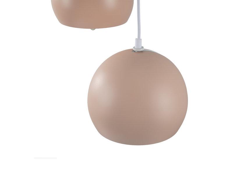 Hanglamp Modern Roze Rond Metaal 3 Licht  - Scaldare Aino