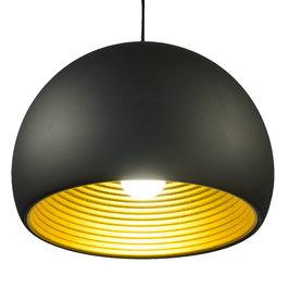 Valott Zwarte Hanglamp met Goudkleurige Binnenkant – Valott Oca