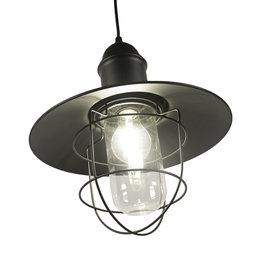 Valott Industriële Hanglamp Cage Design Met Glas – Valott Herne