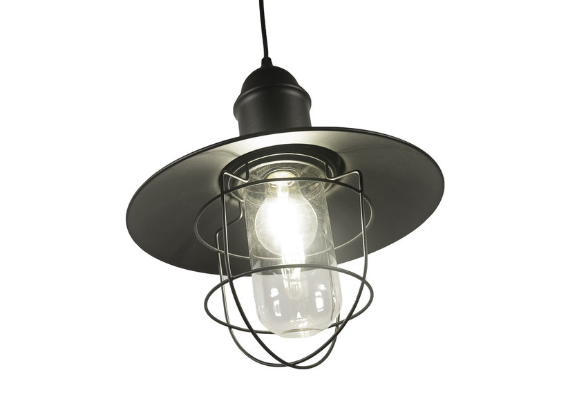Industriële Hanglamp Cage Design Met Glas – Valott Herne