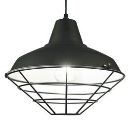 Valott Industriële Hanglamp Cage Design Zwart – Valott Kae
