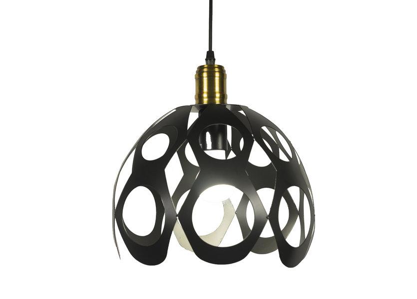 Moderne Koepelvormige Hanglamp Zwart – Scaldare Torano