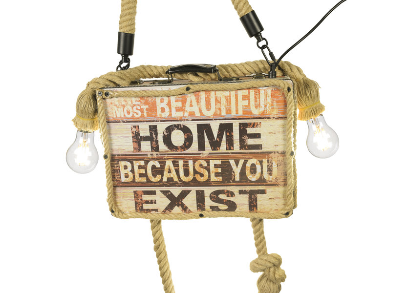 Hanglamp Koffer Vier Lichtpunten – Valott Lehti