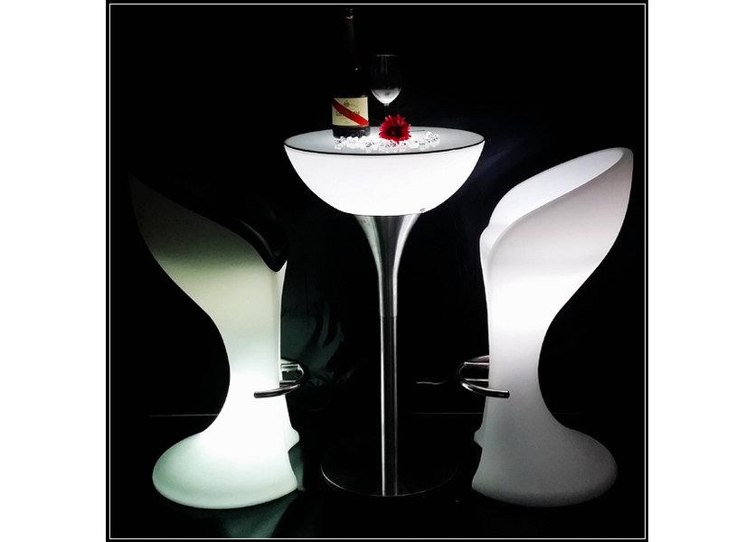 LED RGB Statafel met glasplaat Oplaadbaar + Afstandsbediening - Funnylights Gloom