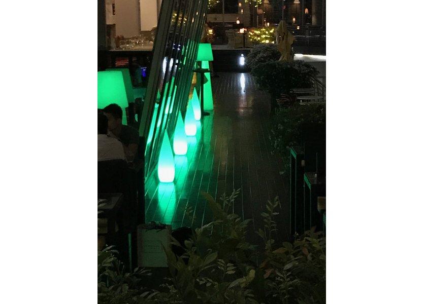 Oplaadbare Staande Lamp LED RGB Kaarsvorm 80 cm incl.  Afstandsbediening - Funnylights Muk Tuinlamp