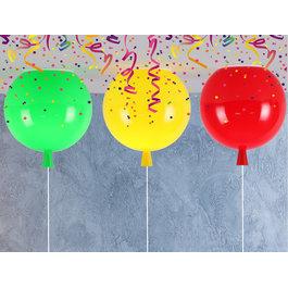 Funnylights Plafondlamp Ballon Middelgroot set van 3 Rood, Geel, Groen Carnaval - Funnylights