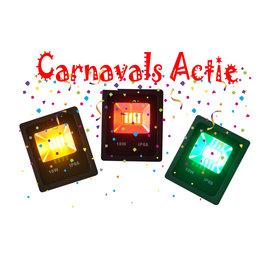 Crius Rode, Gele en Groene LED Bouwlamp - 10 Watt - Set van 3 (Carnaval) IP66 - Crius