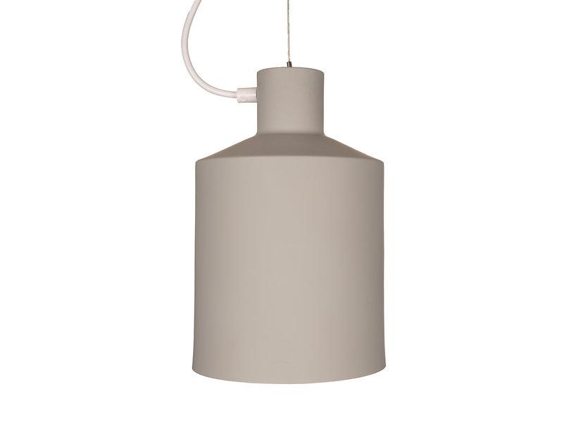 Hanglamp Modern Grijs Rond Wit Metaal - Scaldare Sacile